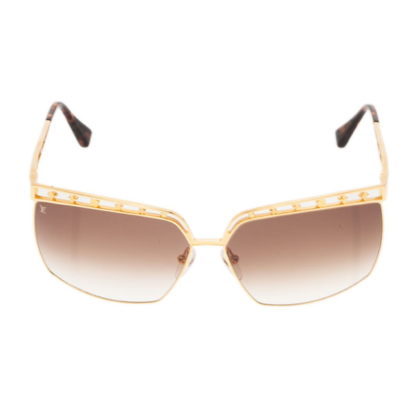 Louis Vuitton Gold Dorothy Sunglasses