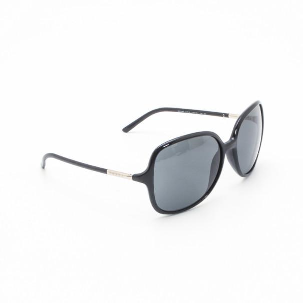 Prada \'D\' Frame Black Oversized Sunglasses - Buy & Sell - LC
