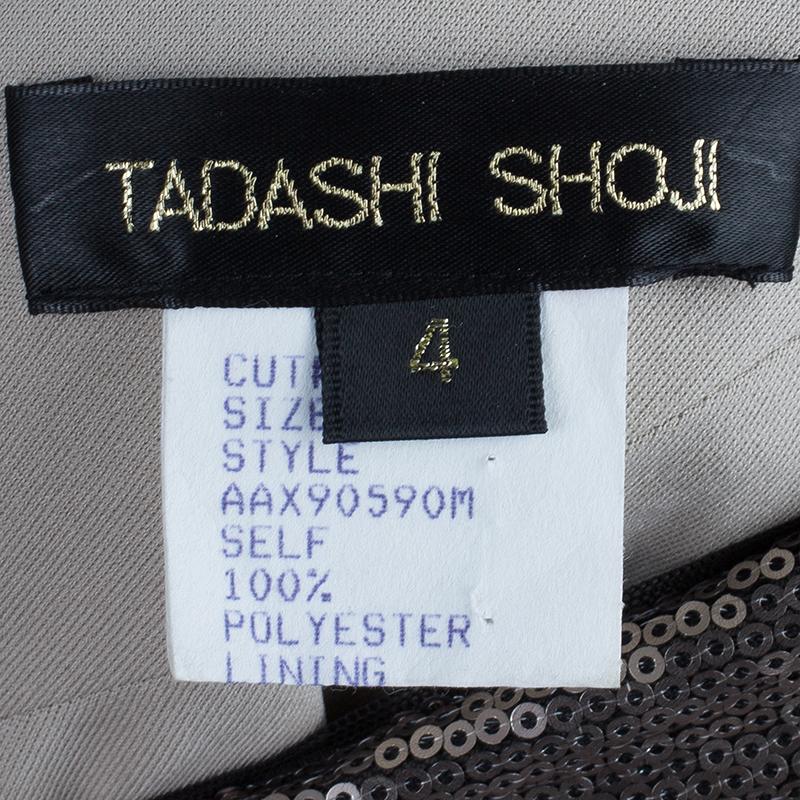 Tadashi Shoji Sequin One Shoulder Dress S