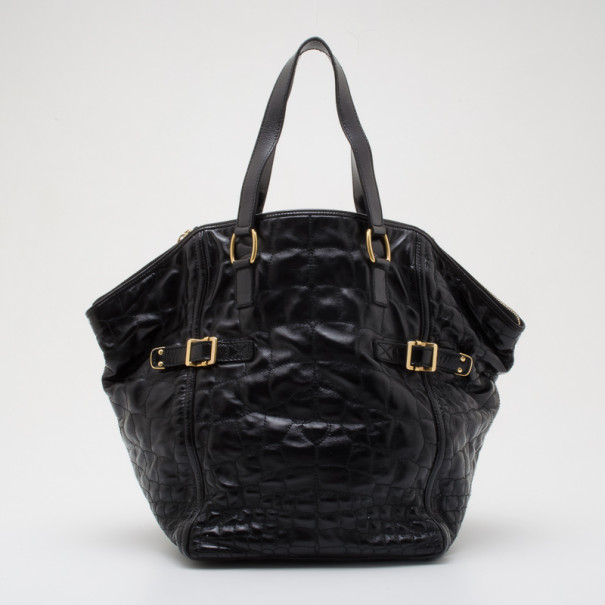 d07538d93033 Buy Yves Saint Laurent Black Patent Leather Downtown Tote 36655 at ...