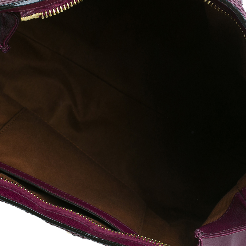 Marc Jacobs Purple Quilted Leather Alyona Hobo Bag