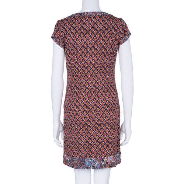 Diane Von Furstenberg Brown Printed Tunic Dress M