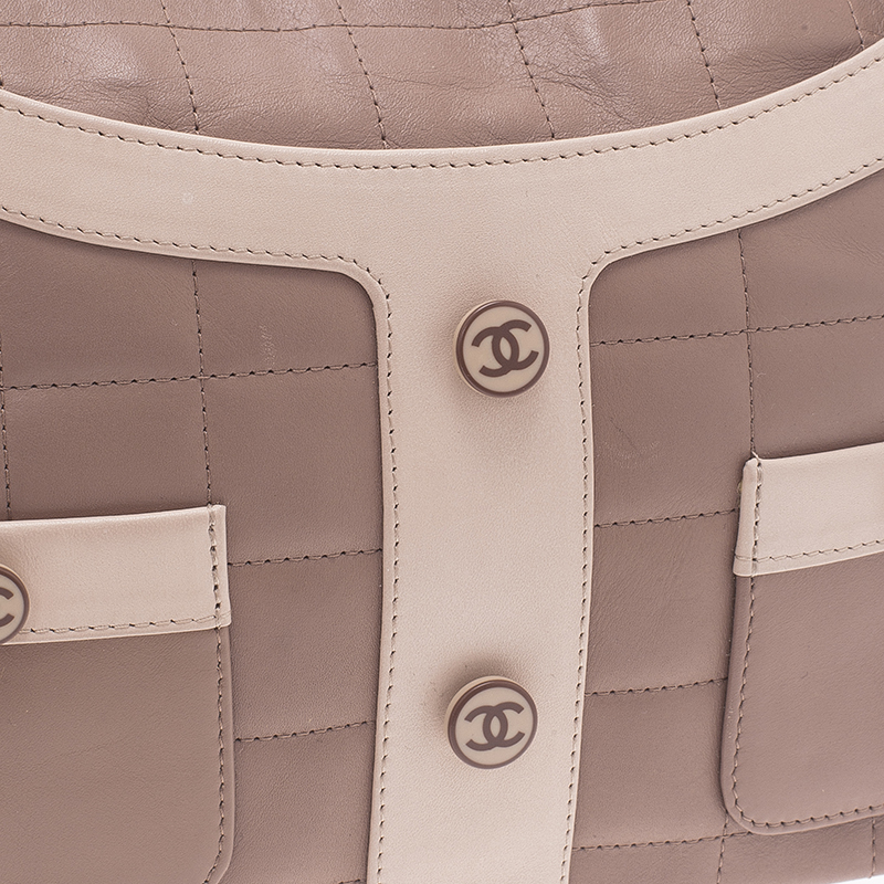 Chanel Rose Pink Square Quilted Leather Jacket Suit Bag