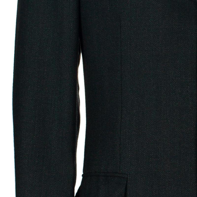 Ermenegildo Zegna Men's Charcoal Traveller Wool Blazer M