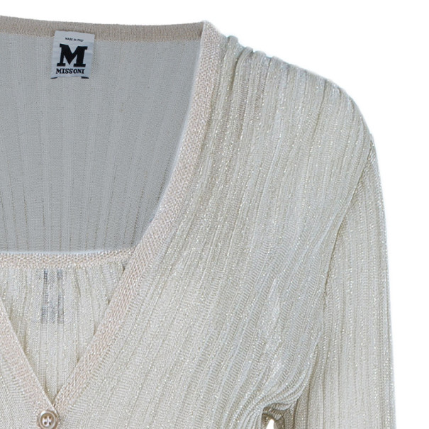 M Missoni Multicolor Metallic Top and Cardigan Set L