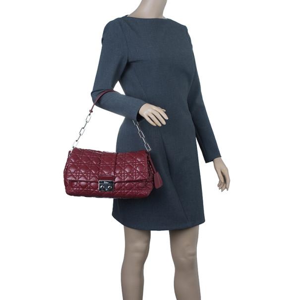 Dior Maroon Soft Leather Medium Miss Dior Chain Shoulder Bag