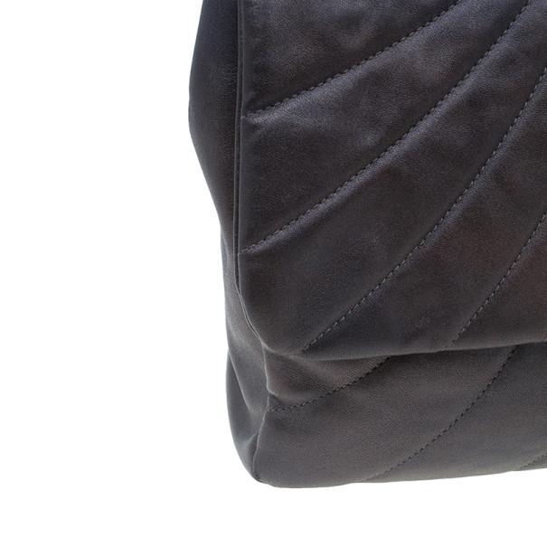 Chanel Metallic Purple Lambskin Maxi Flap Bag
