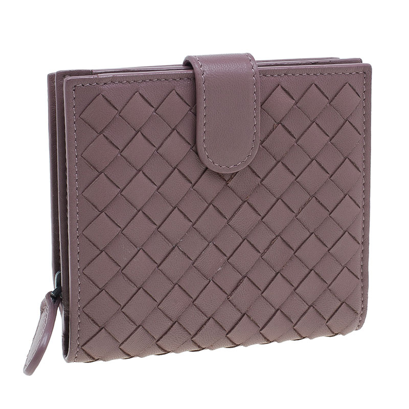Bottega Veneta Brown Intrecciato Leather Irish Mini Wallet