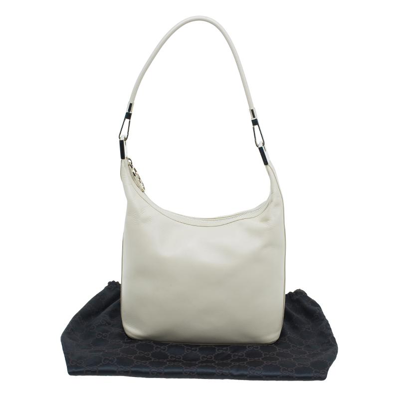 Gucci Beige Leather Hobo shoulder Bag