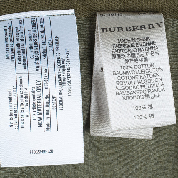 Burberry Men's Green Zip Front Hoodie Jacket L