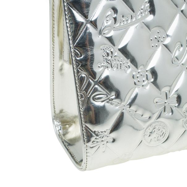 Chanel Metallic Gold Patent Charms Pochette