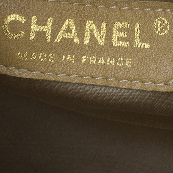 Chanel Metallic Gold Patent Charms Pochette