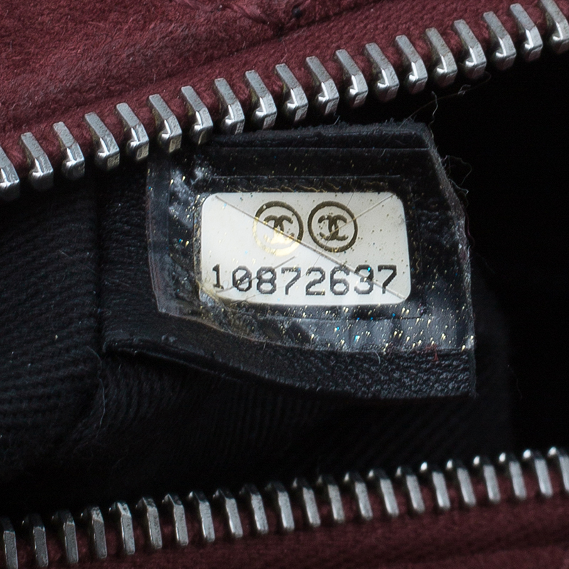 Chanel Burgundy Suede Lady Braid Satchel Bag