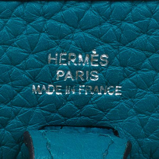 Hermes Clemence Bleu Evelyne II TPM Bag