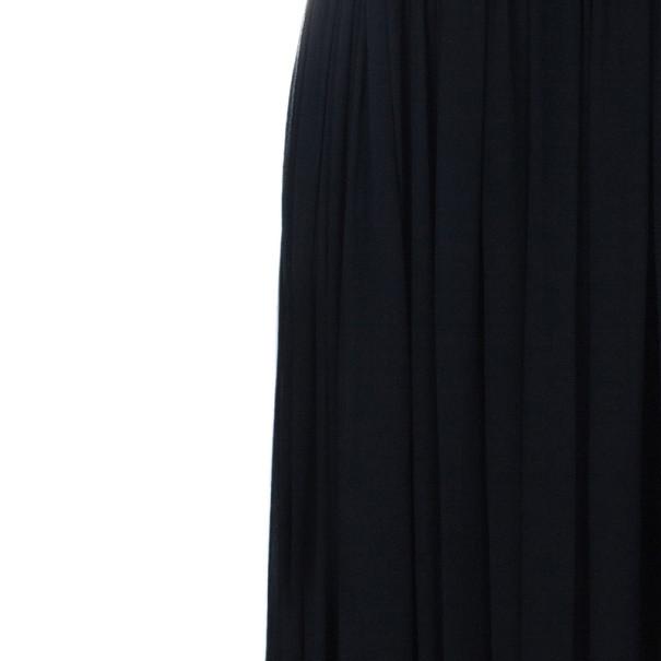 Notte by Marchesa Strapless Monochrome Silk Chiffon Gown S