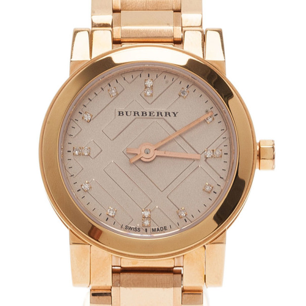 Burberry Silver Stainless Steel The City BU9126 Women's Wristwatch 25MM