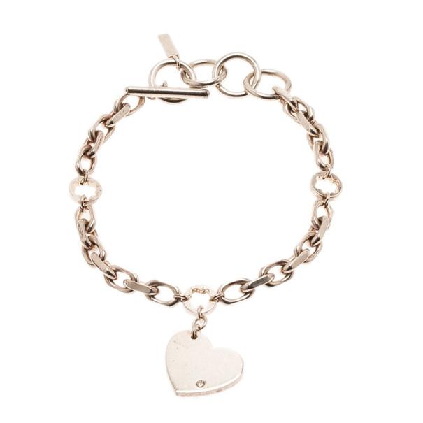 Montblanc Heart Silver Diamond Bracelet 23CM