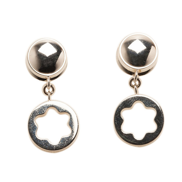 Montblanc Star Signet Silver Earrings
