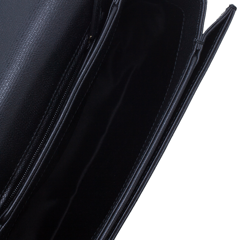 Saint Laurent Paris  Black Leather Chyc Shoulder Bag