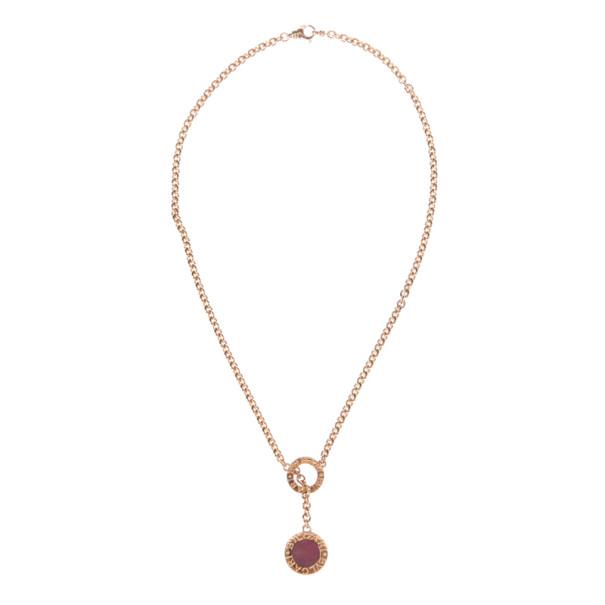 Bvlgari Bvlgari 18K Yellow Gold and Lapis Coral Pendant Necklace