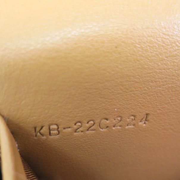 Salvatore Ferragamo Brown Leather Checkbook Wallet