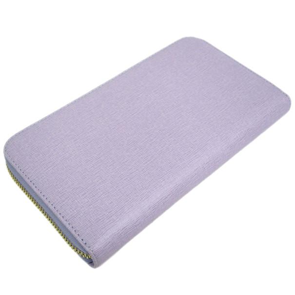 Furla Purple Leather Zip Around Contential Wallet
