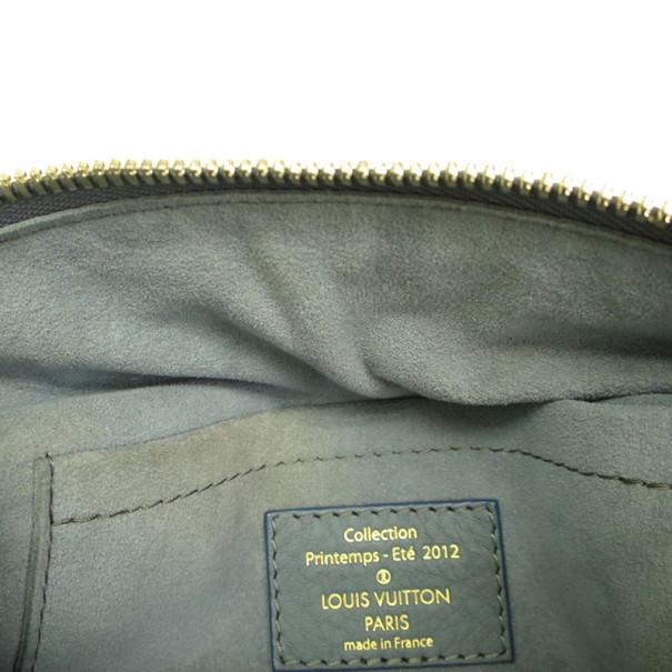 Louis Vuitton Blue Monogram Denim Round 2012 Shoulder Bag