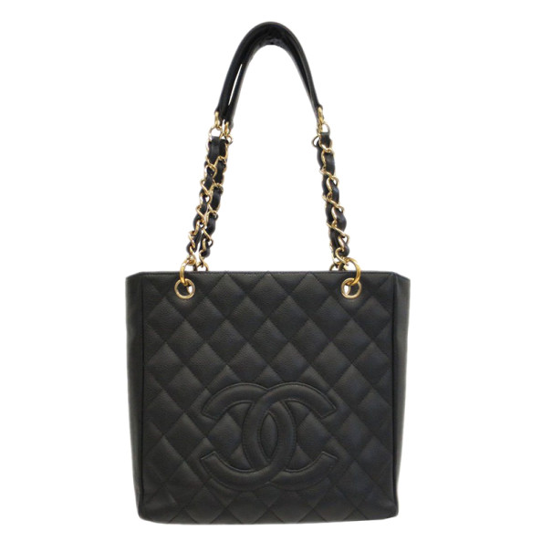 Chanel Black Caviar Petite Shopper Tote