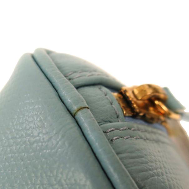 Chanel Blue Calfskin Pouch