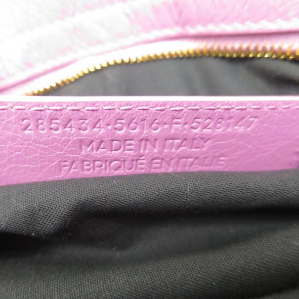 Balenciaga Pink Lambskin Giant Town Hobo
