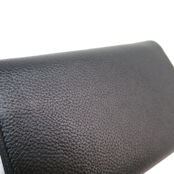 Chanel Black Leather 2.55 Middle Wallet