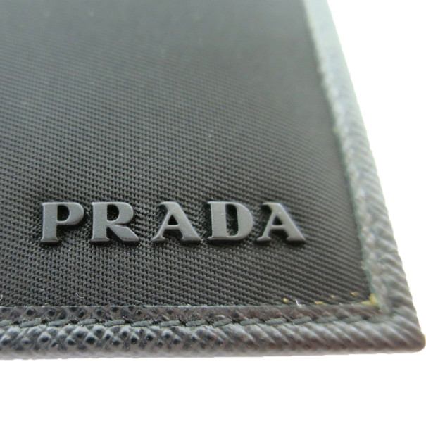 Prada Black Nylon Bifold Wallet