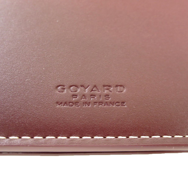 Goyard Brown Canvas Richelieu Contential Wallet