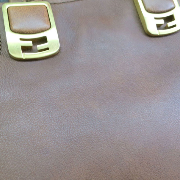 Fendi Tri-Color Leather Chameleon Boston Bag