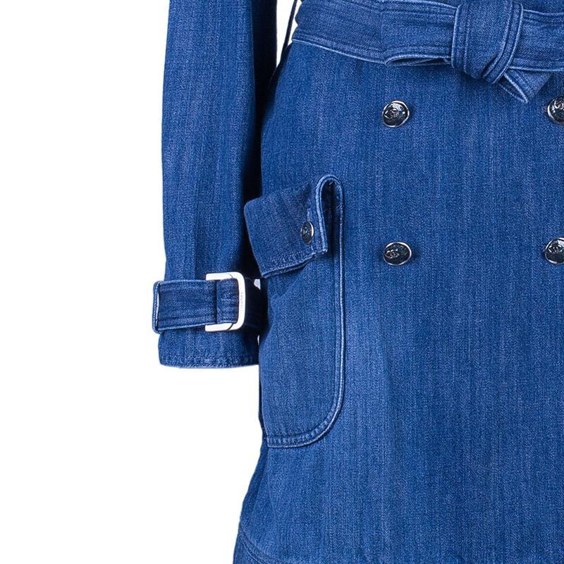Chanel Denim Long Coat S