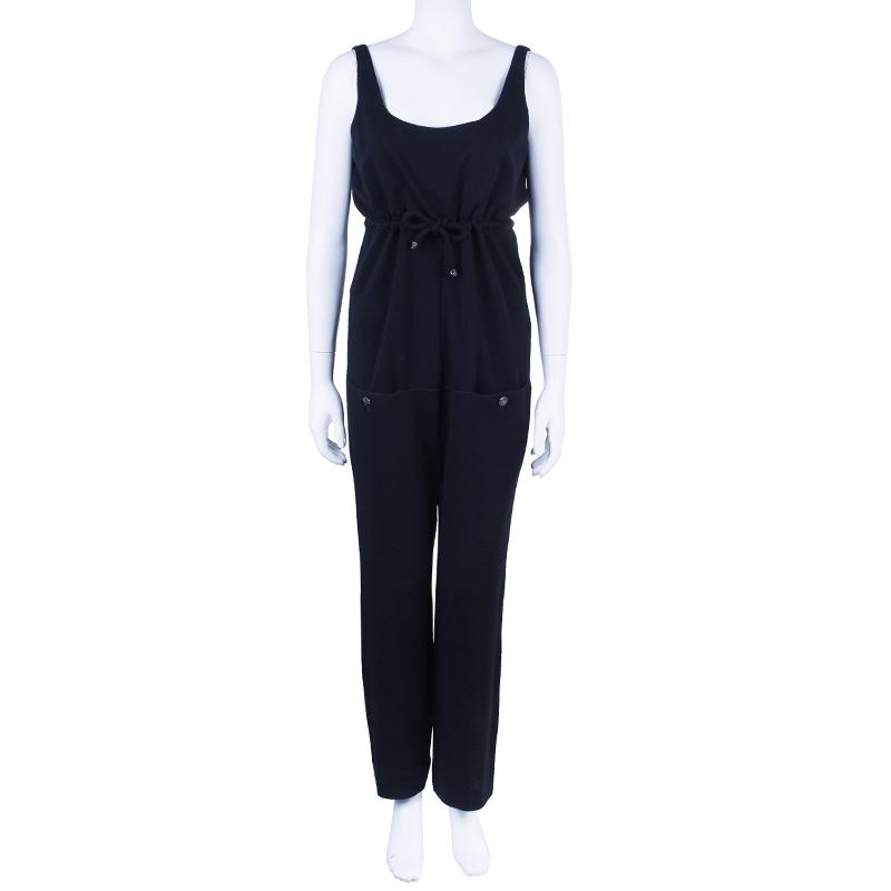 Chanel Sleeveless Drawstring Jumpsuit M