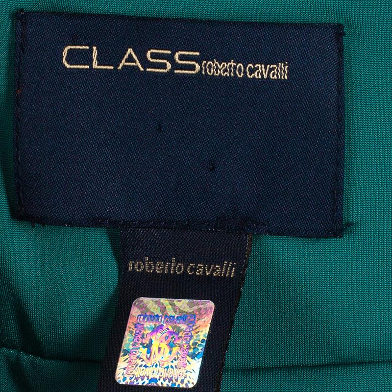 Class by Roberto Cavalli Sage Green Silk Dress M