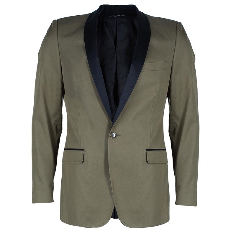 Dolce And Gabbana Men's Contrast Lapel Blazer M