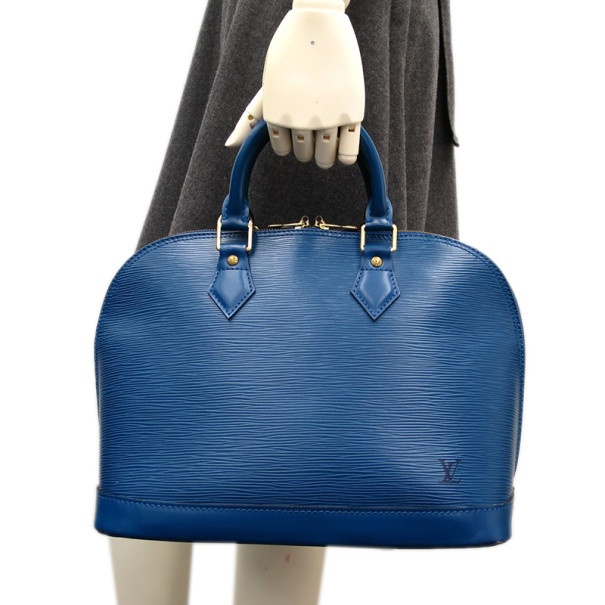 Louis Vuitton Blue Epi Leather Toledo PM