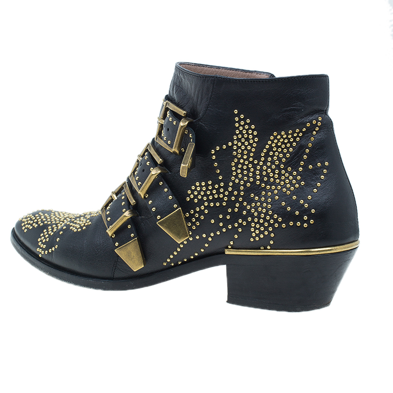 Chloe Suzanna Studded Ankle Boots UK Size 37