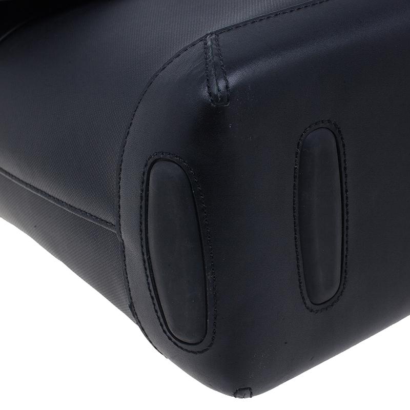 Tumi Black Leather Formula T Compartment Bag