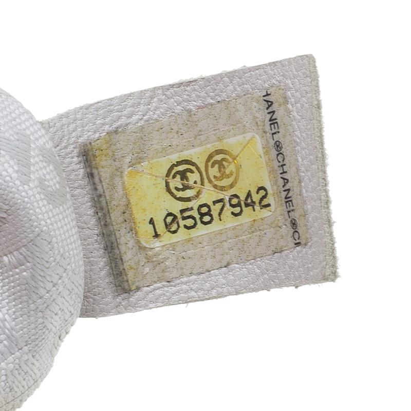 Chanel White Python Hobo Bag