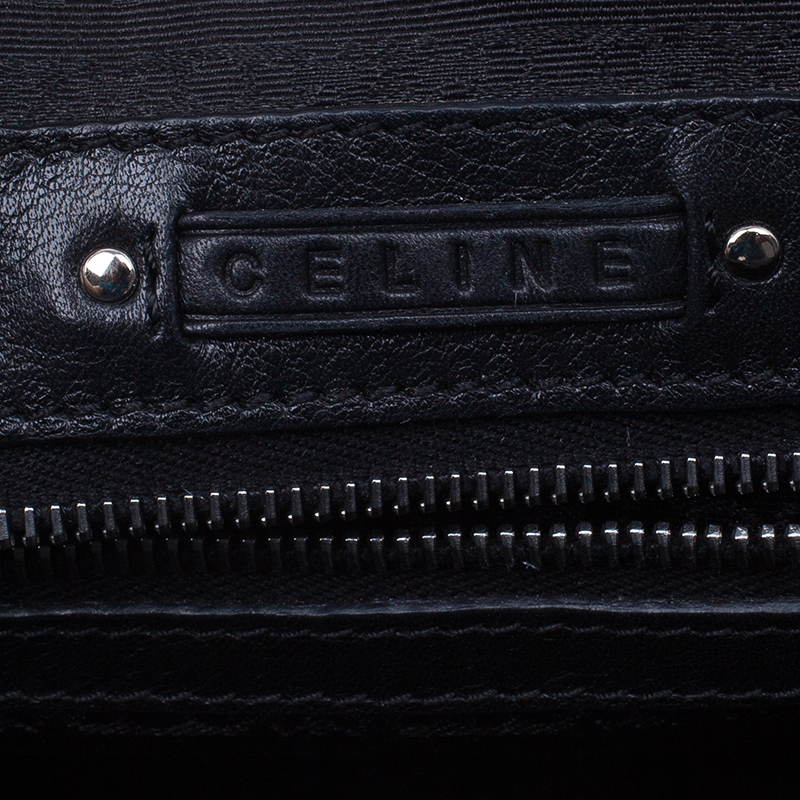 Celine Black Leather Framed Satchel