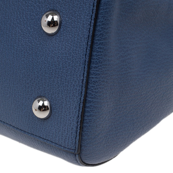 Mulberry Blue Leather Small Del Rey Satchel