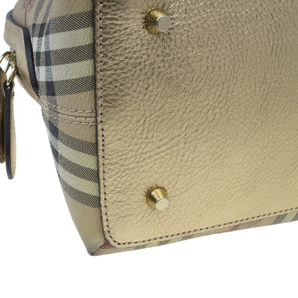 Burberry Bronze Haymarket Check Thornley Bowling Bag