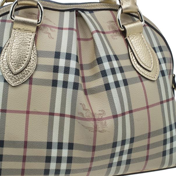 Burberry Bronze Haymarket Check Thornley Bowling Bag