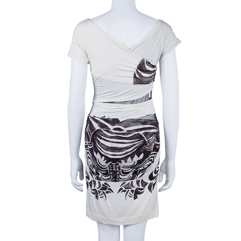 Just Cavalli Ruched Printed Dress