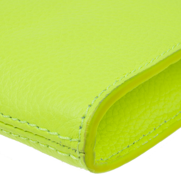 Jimmy Choo Lime Green Rivera Clutch