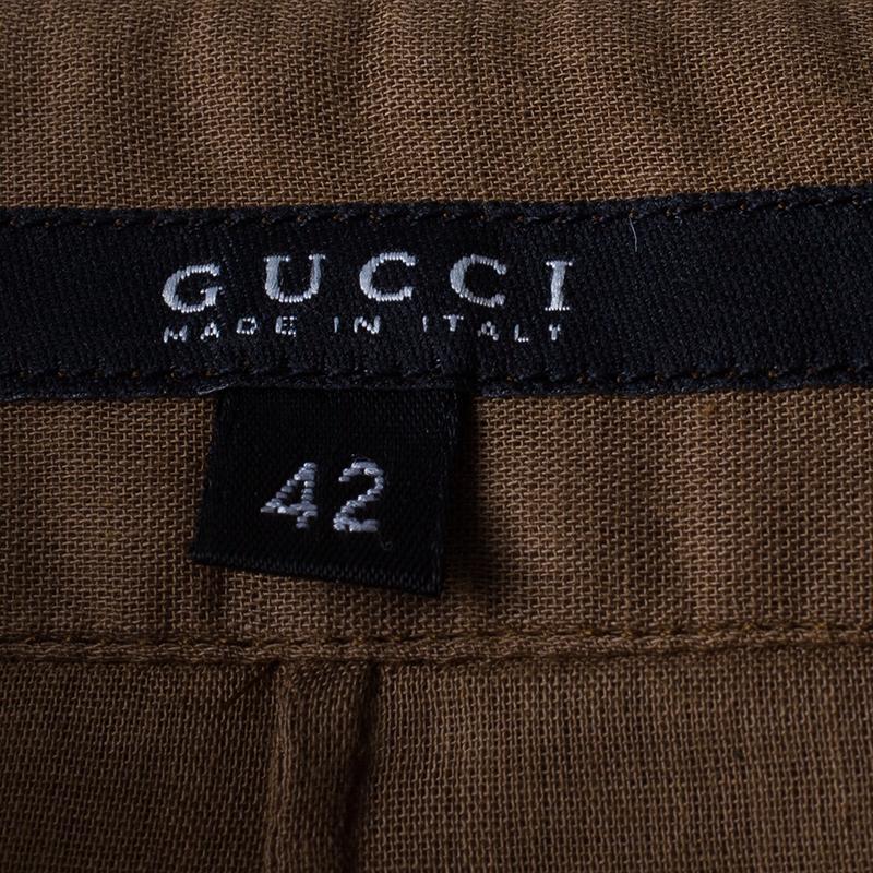 Gucci Brown Cotton Blouse M