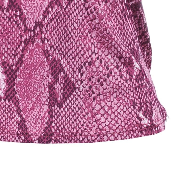 Gucci Pink Snake Print Top S